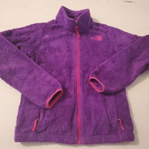 The North Face purple fleece girl 10/12